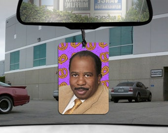 Stanley Hudson car Air Freshener The Office pretzel scented gift for him her Boyfriend GIRLfriend Dunder Mifflin