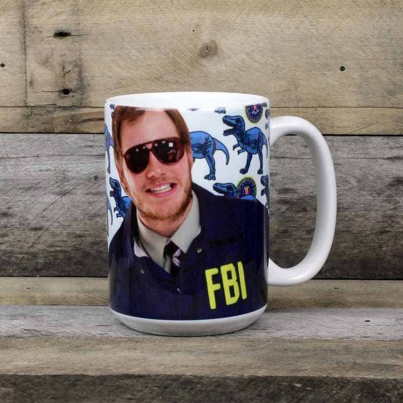 Burt Macklin Fbi Mug Andy Dwyer Parks And Rec Gifts For Her Etsy