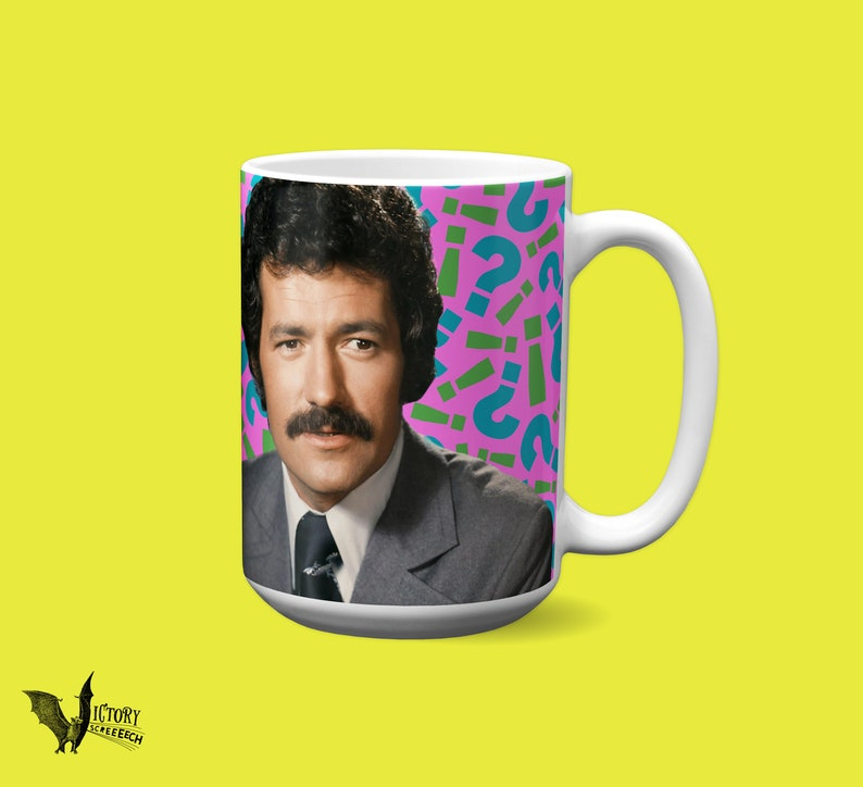Alex Trebek Mug | Jeopardy TV gifts for dad boyfriend Trivia fans funny  mugs game show moustache canadian pride MOM grandmother presents