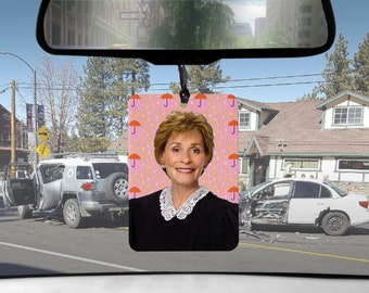 Judge Judy car Air Freshener tv court of laws APPLESAUCE scented gifts for him Boyfriend gift for her Girlfriend Funny Air Fresheners