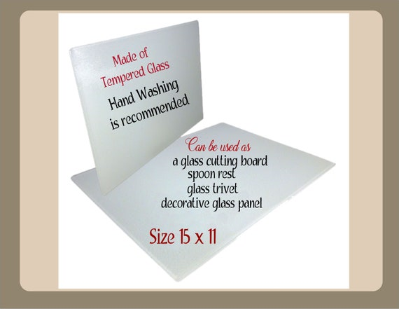 Entryway office decor Kitchen glass trivet Christmas Thinking of you gift Glass art panel Glass cutting board Happy Holidays decor