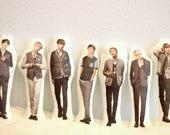 BTS Bangtan (방탄소년단) Small Full Body Decorative Pillows