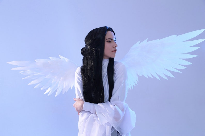 custom made: small white angel wings cosplay and other