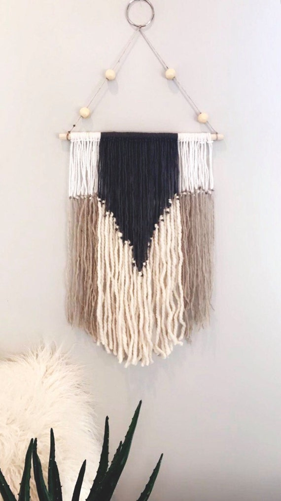 Items Similar To Boho Wall Decor Yarn Wall Hanging Yarn Macrame Wall Decor On Etsy