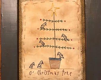 O'Christmas Tree Crows - Machine Embroidery Design