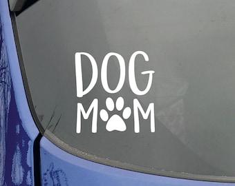 Dog Mom Car Decal, Dog Mom Sticker, Dog Mom Decal, Dog Decal, Dog Sticker, Paw Sticker, Paw Print, Window Sticker, Window Decal