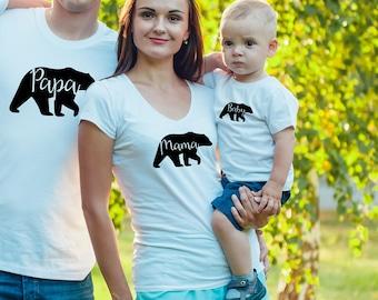 Mama Bear V-Neck T-Shirt, Mama Bear T-Shirt, Mama Bear Shirt, Mum Bear, Made to Order, Bear Family Shirts