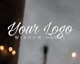 Store Front Window Decal, Vinyl Window Decal, Vinyl Business Decals, Custom Decals, Store Front Window Sticker, Your Logo Window Sticker