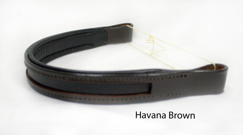 Pony Small Horse Custom Leather Browbands Soft V  in Mini Full and Oversize Sizes