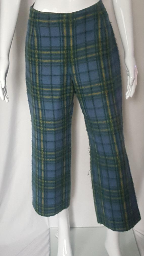 Vintage Wool Plaid Pants
