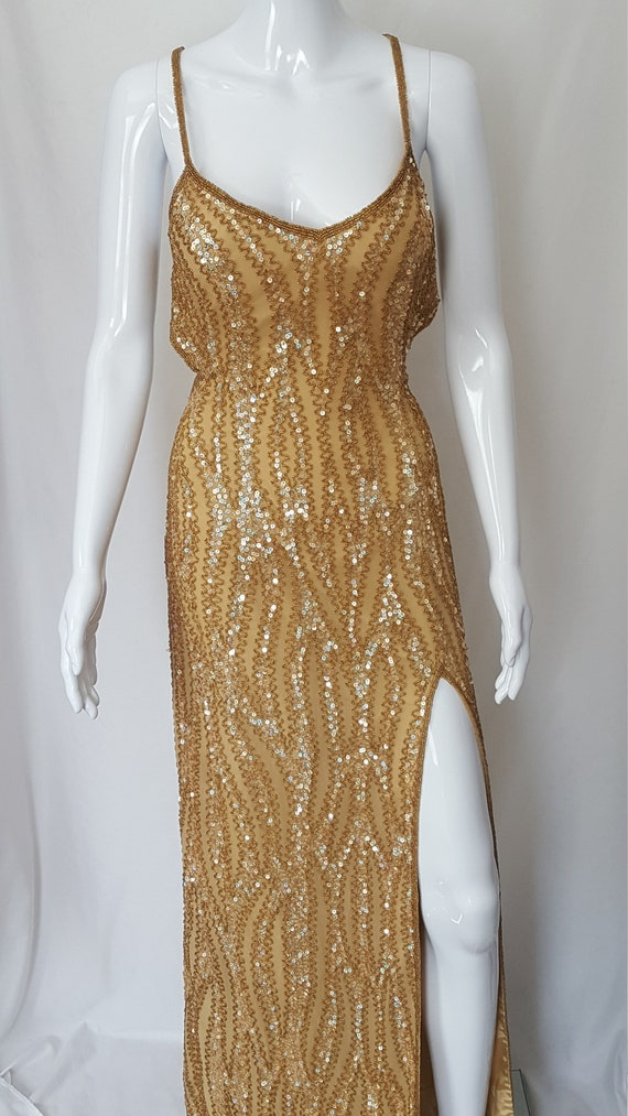 Gold Sequined Gown