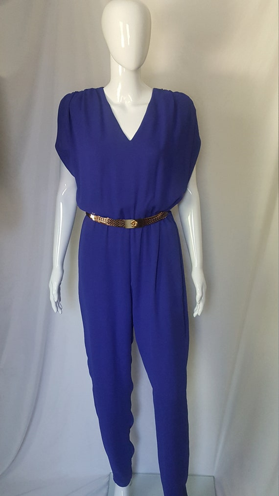 1980's Purple Jumpsuit