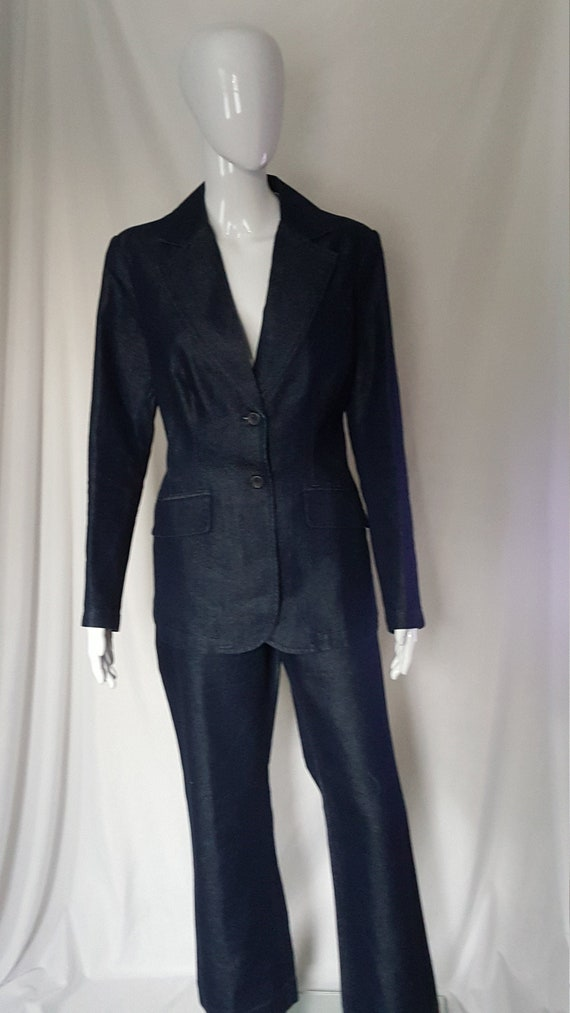 Dark Denim Pantsuit