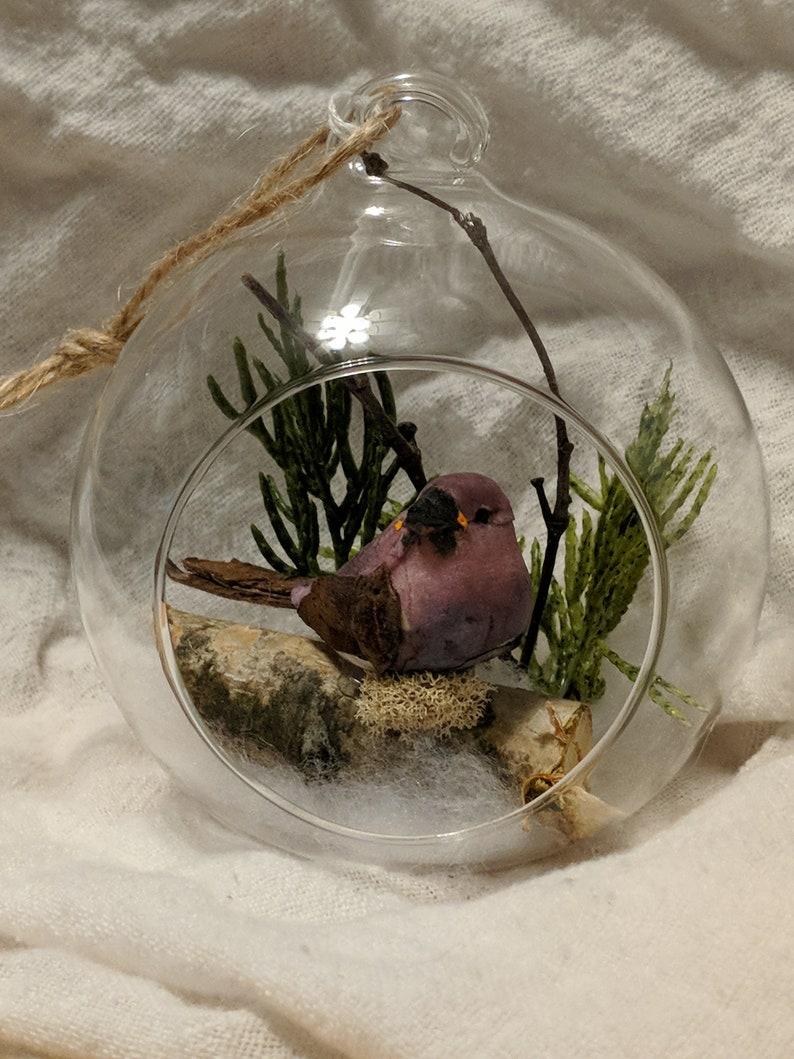 Purple finch ornament
