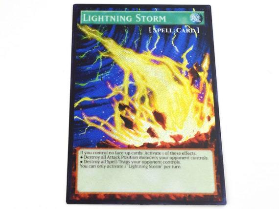 Custom Orica Proxy Card Starlight Rare , Selective Lightning Storm Yugioh