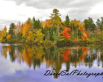Fall on the Water, New Hampshire