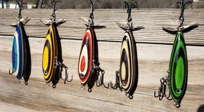 Handmade Topwater Fishing Lure Propeller Bass Lure image 0