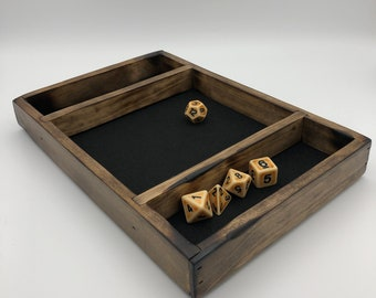 Dice Rolling Tray DnD, Dice Box, Dungeons and Dragons