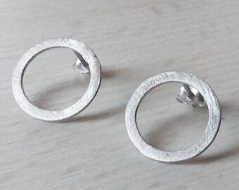"""Earrings """"RODA"""", silver circle earrings, silver earrings, minimalist earrings, silver jewelry, minimalist jewelry"""