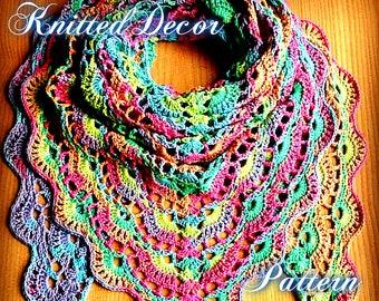 Crochet Shawl Pattern Crochet Shawl Tutorial DIY Crochet Shawl Triangle Shawl Boho Shawl Hippie Shawl Boho Crochet Scarf PDF Shawl Crochet