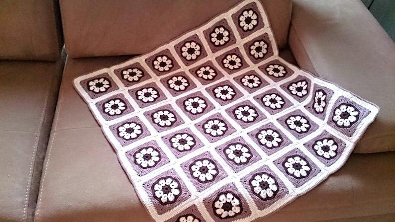 Crochet Baby Blanket Pattern Crochet Floral Blanket Pattern Crochet Floral Motif Pattern