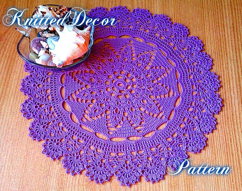 Crochet Doily Pattern Free Pattern Crochet Doily Tutorial Lace Etsy