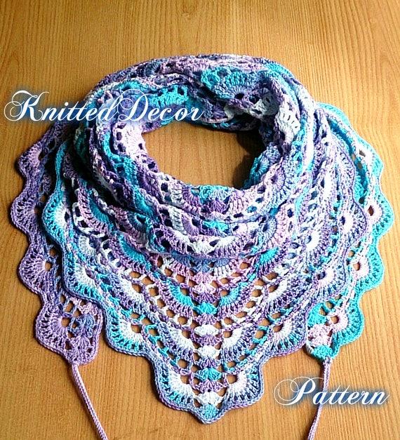 Crochet Shawl Pattern PDF Crochet Shawl Pattern Free DIY Crochet Shawl  Crochet Pattern Free Crochet Boho Shawl Pattern Triangle Scarf PDF