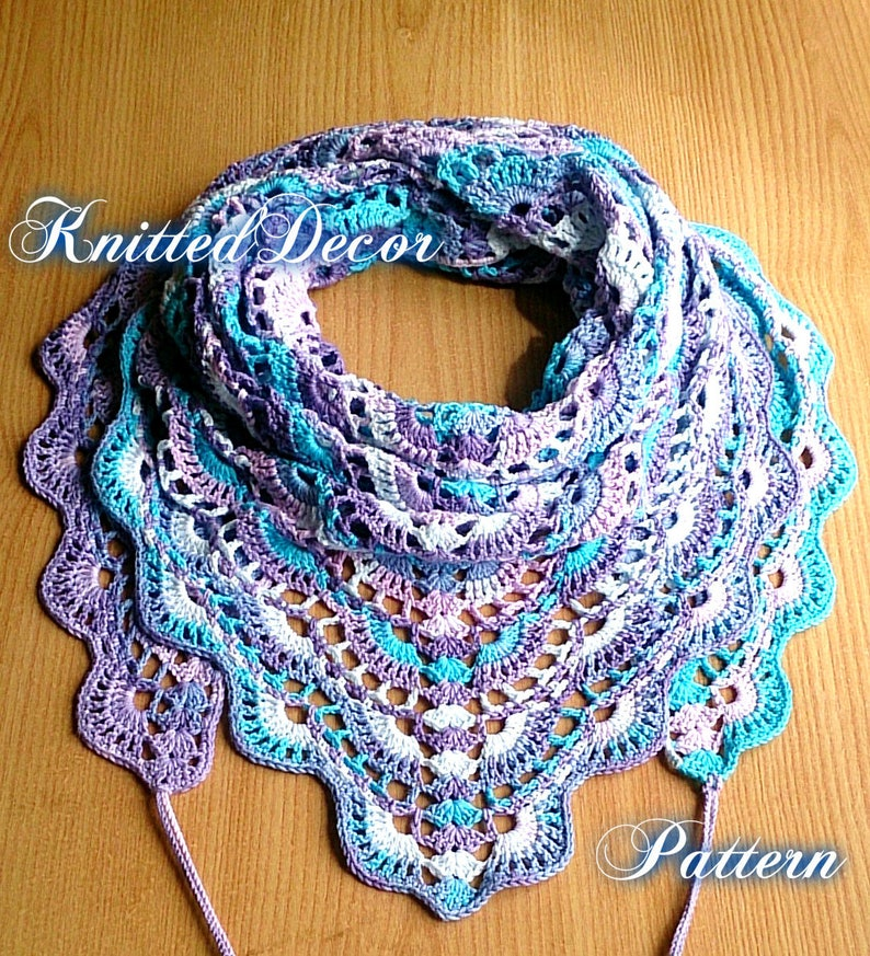 Crochet Shawl Pattern Pdf Crochet Shawl Pattern Free Diy Etsy