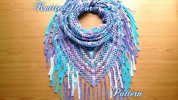 Lace Crochet Shawl Pattern Crochet Triangle Scarf Pattern Boho Crochet  Pattern Free Triangle Shawl Crochet Pattern Scarf Pattern Free Boho
