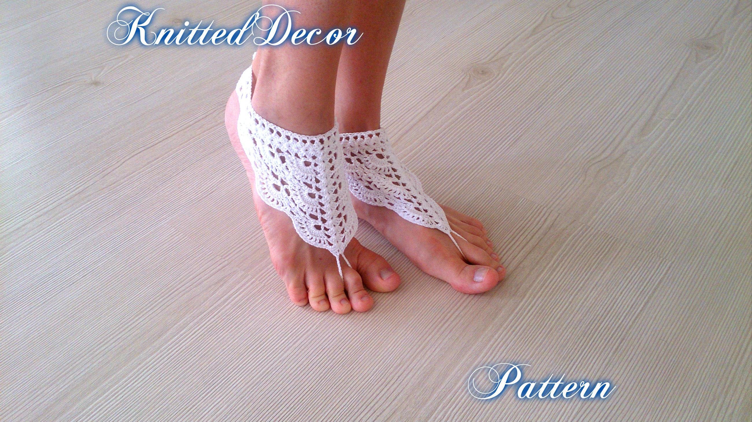 Crochet Barefoot Sandals Pattern Crochet Barefoot Pattern Boho Etsy