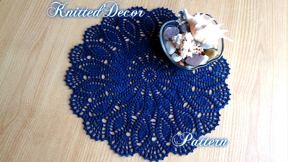 Lace Doily Tutorial Doily Pattern Free Patterns Crochet Doily Etsy