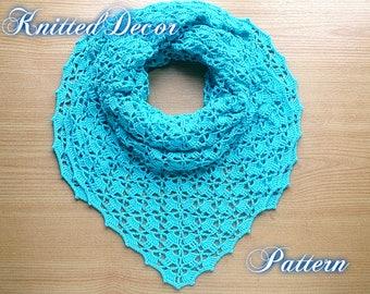 Triangle Shawl Pattern Triangle Shawl Tutorial Crochet Shawl DIY Triangle Scarf PDF Crochet Shawl Pattern Crochet Boho Shawl Boho Crochet