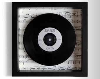 "Black Lace ""Agadoo"" Framed 7"" Vinyl Record"