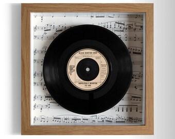 "Olivia Newton-John ""Hopelessly Devoted To You"" Framed 7"" Vinyl Record"
