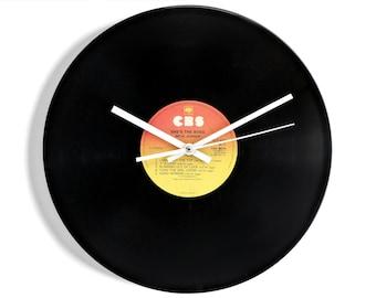 "Mick Jagger ""She's The Boss"" Vinyl Record Wall Clock"