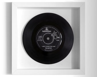 "The Beatles ""I Want To Hold Your Hand"" Framed 7"" Vinyl Record"