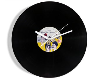 "Haircut One Hundred ""Pelican West"" Hundred Vinyl Record Wall Clock"