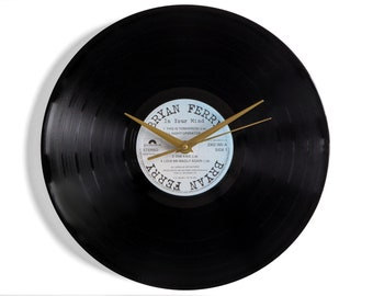 """Bryan Ferry """"In Your Mind"""" Vinyl Record Wall Clock"""