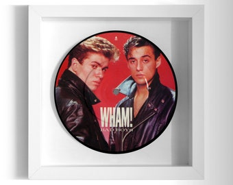 "Wham! ""Bad Boys"" Framed 7"" Vinyl Record"