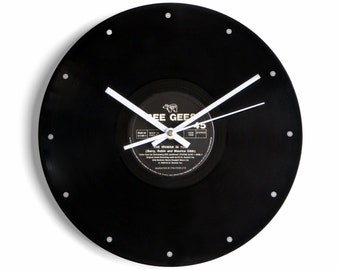 """Bee Gees """"The Woman In You"""" Vinyl Record Wall Clock"""