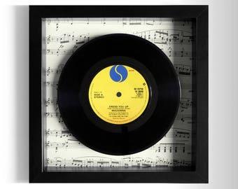 """Madonna """"Dress You Up"""" Framed 7"""" Vinyl Record"""