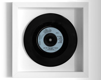 "Shakin' Stevens ""Give Me Your Heart Tonight"" Framed 7"" Vinyl Record"