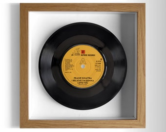 "Frank Sinatra ""I Believe I'm Gonna Love You"" Framed 7"" Vinyl Record"