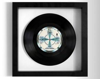 """Stevie Wonder """"Lately"""" Framed 7"""" Vinyl Record"""
