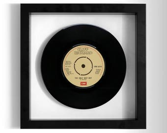 "Cliff Richard ""The Only Way Out"" Framed 7"" Vinyl Record"