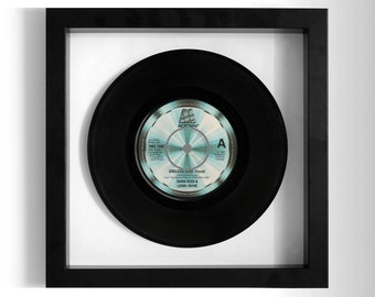 """Diana Ross and Lionel Richie """"Endless Love"""" Framed 7"""" Vinyl Record"""