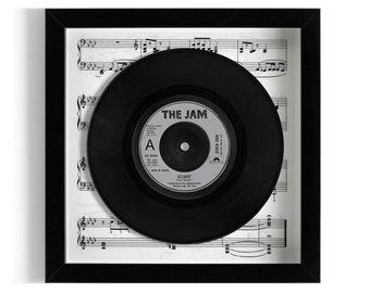 """The Jam """"Start"""" Framed 7"""" Vinyl Record"""