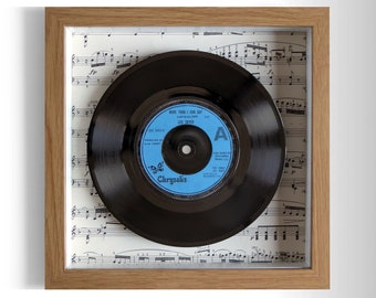"""Leo Sayer """"More Than I Can Say"""" Framed 7"""" Vinyl Record"""
