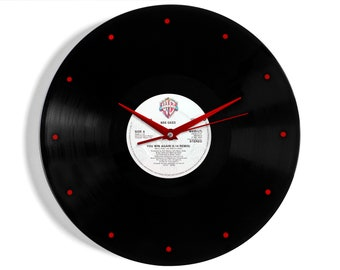 """Bee Gees """"You Win Again"""" Vinyl Record Wall Clock"""