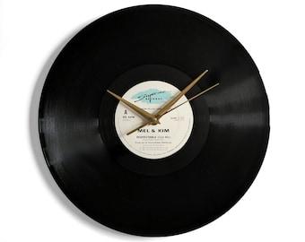 "Mel & Kim ""Respectable"" Vinyl Record Wall Clock"